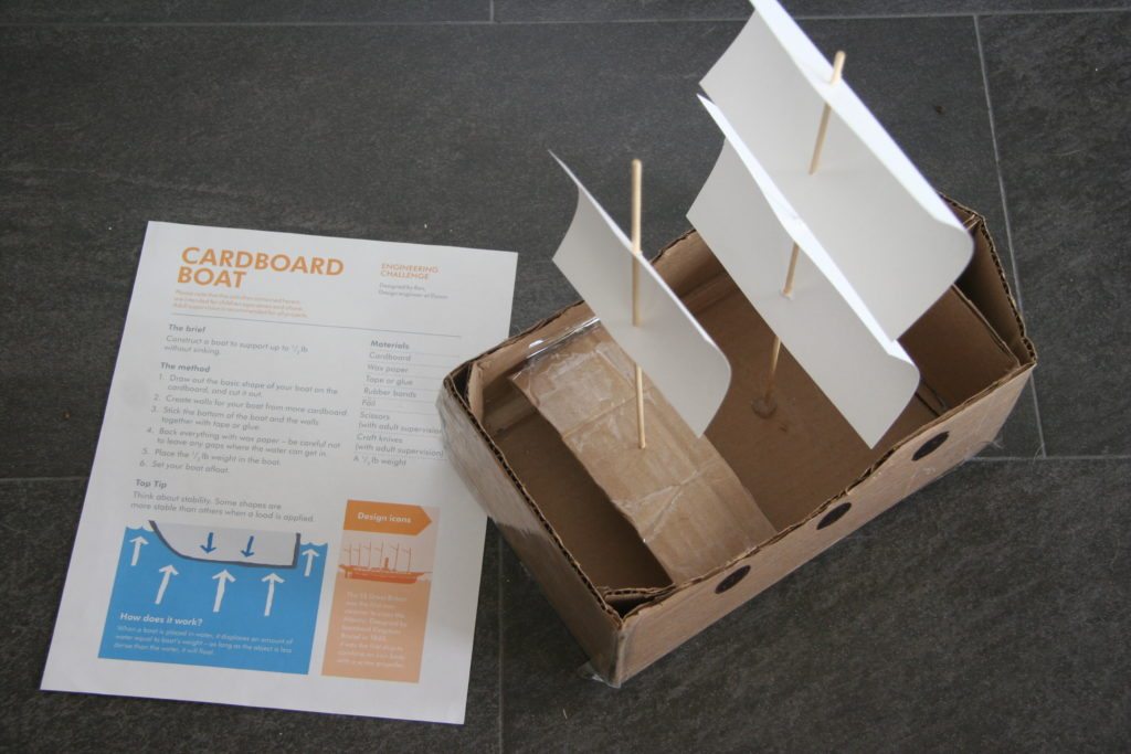 Cardboard Boat STEM project