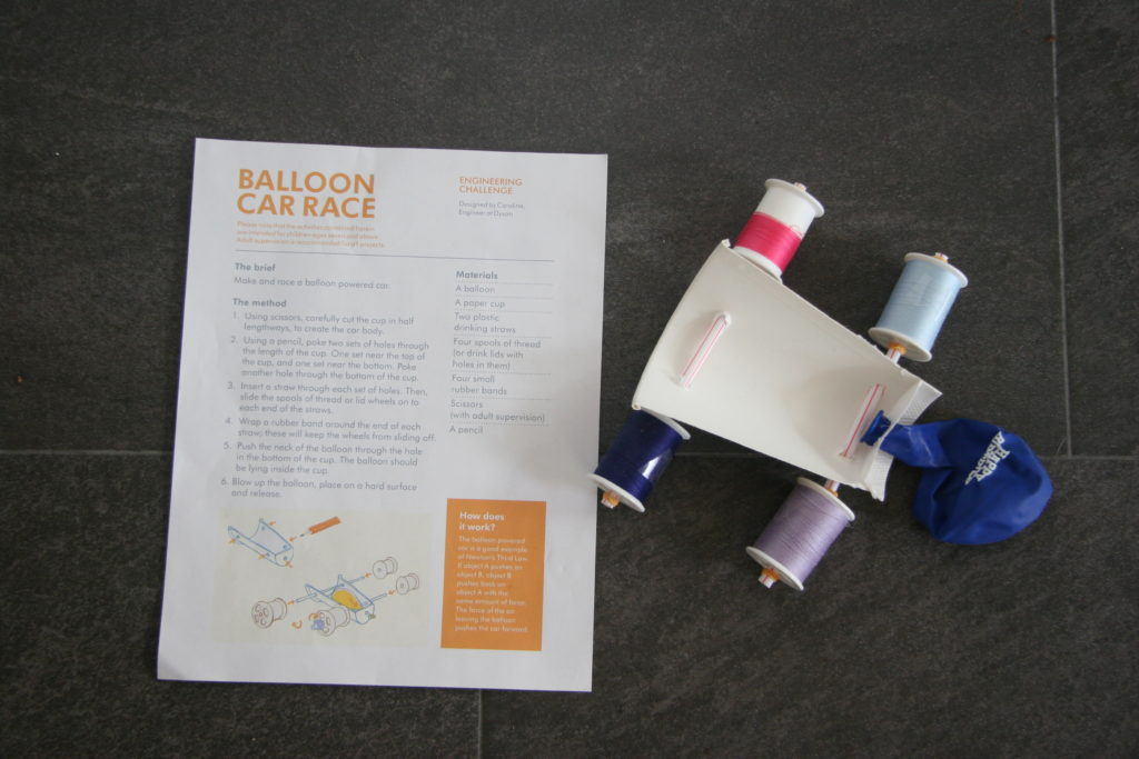 Balloon Car STEM project