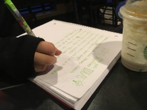 Goal Setting with N at Starbucks.