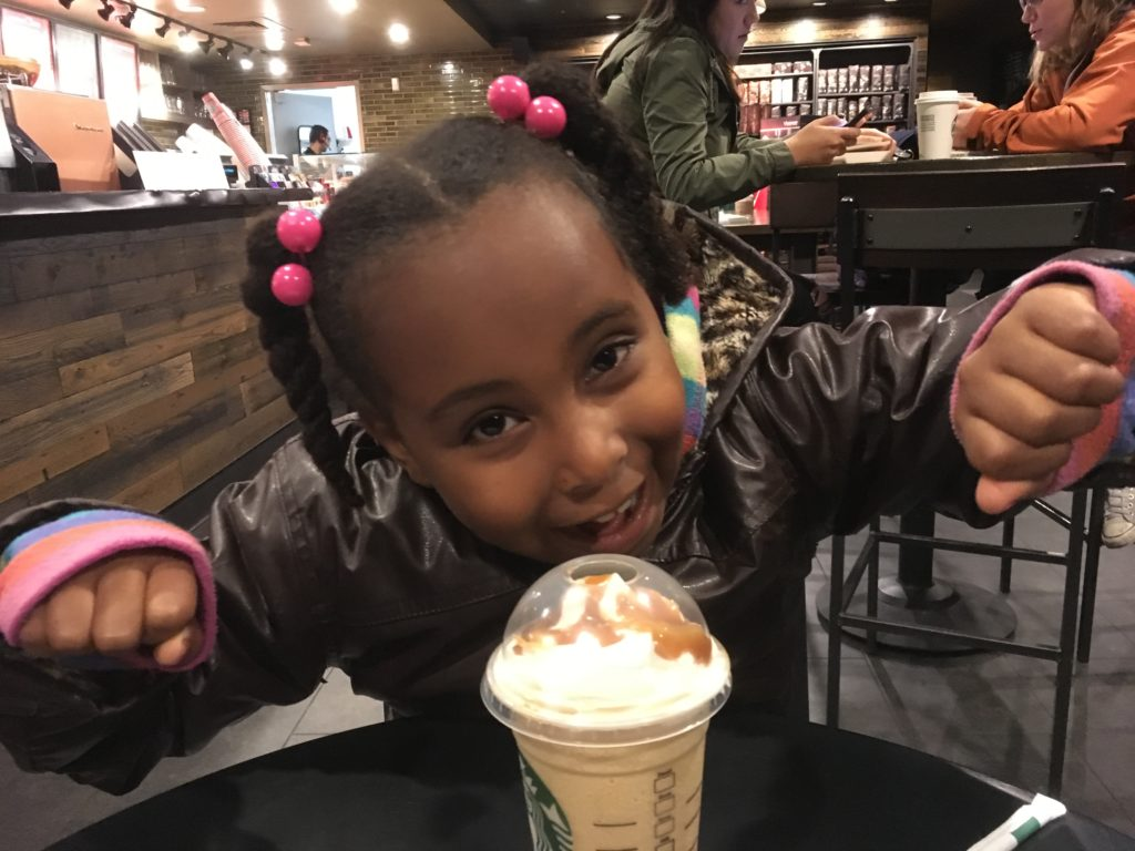 Teaching Kids to Set Goals at Starbucks with S.